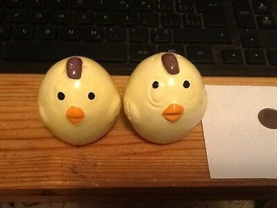 Cute Yellow Chicks Salt and Pepper Shakers  inventory#7a