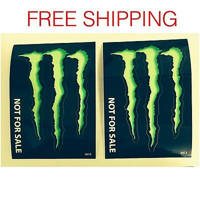 """Two (2) Monster Energy Drink Decal Stickers -  4"""" X 2.75"""""""