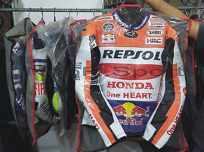 REPSOL Custom Handmade Motorbike Racing Leather Jacket (Replica) noor.sport