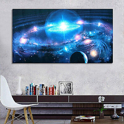 "43""x24"" Universe Galaxy Stars* Space Fabric Silk Cloth Poster Office HOME Decor"
