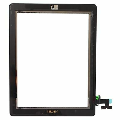 New Black Touch Screen Digitizer Front Glass wit Home Button Assembly For iPad 2