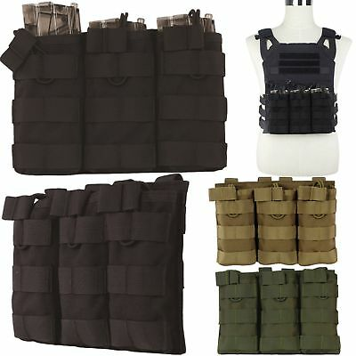 Airsoft Tactical MOLLE Triple 5.56 Magazine Mag Pouch Bag Rifle M4/M16 Holder