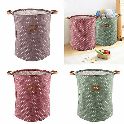 Dirty Clothes Basket Laundry Diamante Washing Bin Foldable Storage Bag Hamper