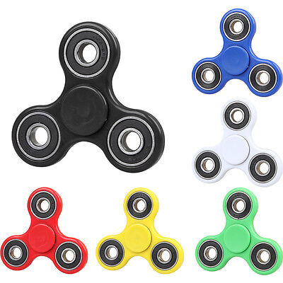 3D Tri Fidget Hand Finger Spinner Desk Focus Toys Stress Relief For Adults Kids