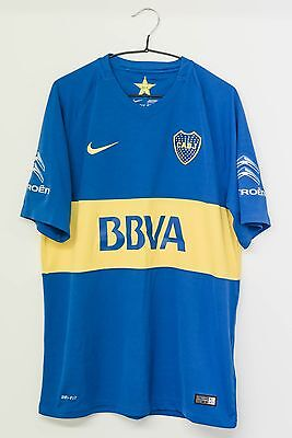 Brand New without tags Genuine Nike Boca Juniors Home football Shirt Mens L