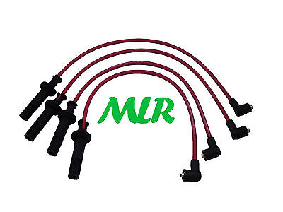 Fiat Coupe Lancia Delta 2.0 16V Turbo Red 8Mm Silicone Ignition Ht Leads Ays