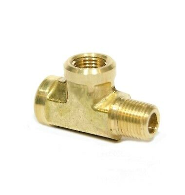 "1/8"" NPT Male Female Street Tee Forged Brass Fitting, Fuel, Air, Oil, FasParts"