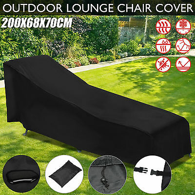 Outdoor Sun Lounge Chair Cover Patio Furniture Protection Shelter Weather