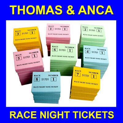 Race Night Betting Tote / Fundraising Tickets 6,400 Tickets 8 Horses 8 Races