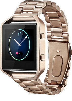 Platinum Stainless Steel Band for Fitbit Blaze Watch Rose Gold PT-FBRGCL - VG