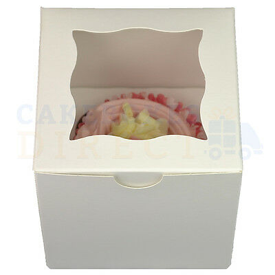 Single Premium Cube Cupcake Box + Divider Choose Your Qty & Colour