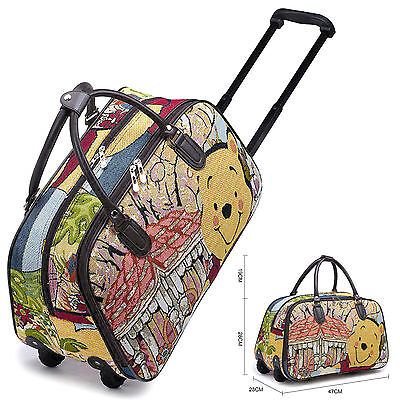 Disney Winnie Pooh &  Vintage Holdall Trolley Bag,Hand Luggage Travel HandBag