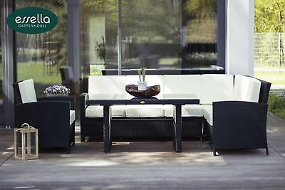 poly rattan gartenm bel garnitur vasto 4 teilig esstisch eur picclick de. Black Bedroom Furniture Sets. Home Design Ideas