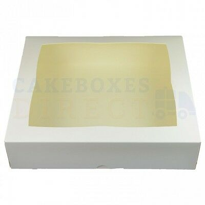 12.75 X 11.5 X 3 Inch Filmed Window Cake Box - Choose Your Quantity And Colour