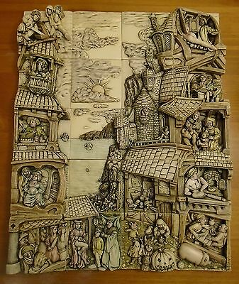 """Harmony Kingdom Picturesque """"Wimberly Tales"""" Complete 20 tile set, retired 2003"""