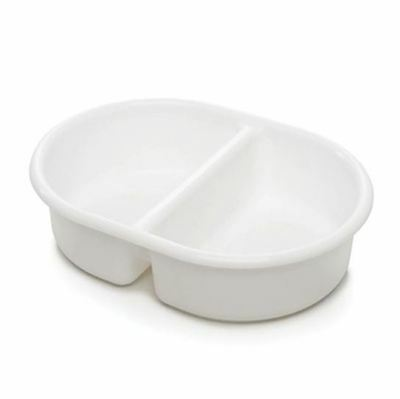 The Neat Nursery Oval Top N Tail Baby Wash Bowl - White