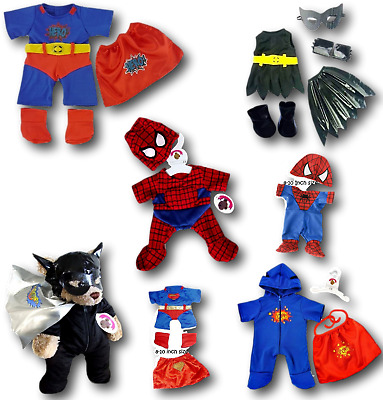 Teddy Bear Clothes fits Build a Bear Teddies Super Hero Outfits Bears Clothing