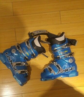 Lange Race 90 Team Ski Boots Speed Blue Lightly Used Great Condition
