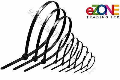 Quality Cable Ties Black Zip Tie Wraps Various Sizes Quantity Discounts
