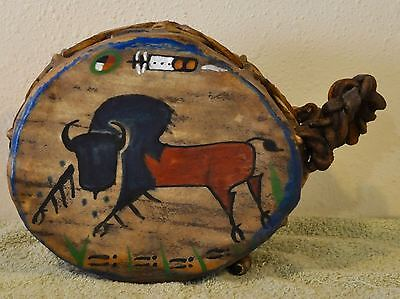 Tatanka (Buffalo)/Native American Drum Painted by Lakota Artist Sonja Holy Eagle