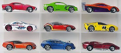 Lot of 9 Hot Wheels sports cars diecast cars 1:64
