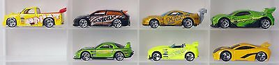 Lot of 7 Hot Wheels tuner cars diecast cars 1:64