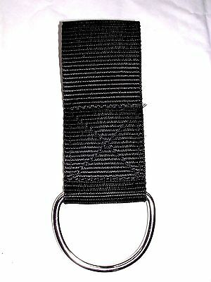 Scuba diving 50mm WEBBING LOOP and STAINLESS STEEL D ring Torch SMB reel bag etc