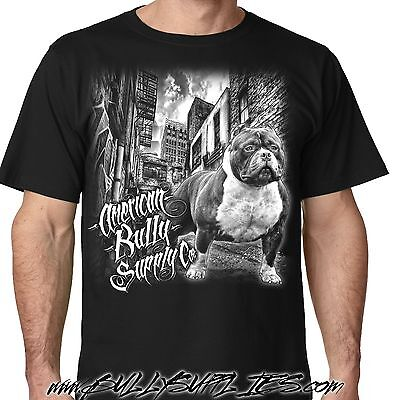 Rocko Alley Pit Bull tee American Bully Supply co Men's T shirt from sm thru 5x