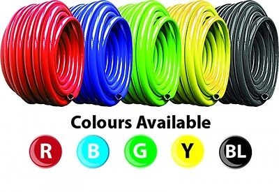 PVC Black, Blue, Red, Green, Yellow Flexible Reinforced Braided Air & Water Hose