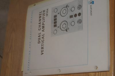 HP Dual Channel Vertical Amplifier 1830 Operating and Service Manual