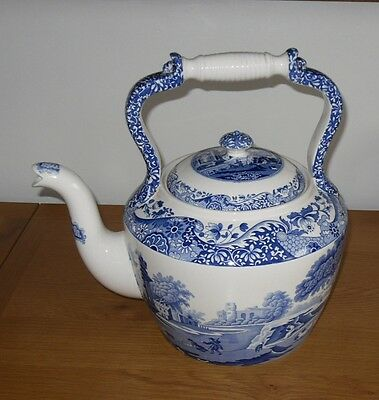 Huge Spode Blue Italian Kettle, 32 cm Tall, 1st quality in VGC