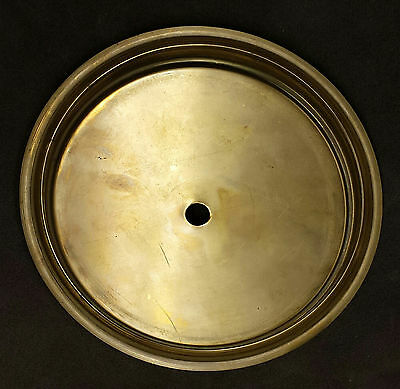 "6-7/16"" Solid brass dial pan, clock part"