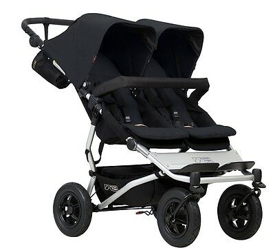 Mountain Buggy 2017 Evolution Duet Double Stroller - Black - New! Free Shipping!