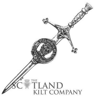 Mens Scottish Made Menzies Clan Crested Boxed Silver Kilt Pin by Art Pewter