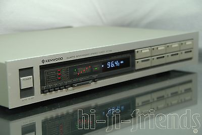 ►Kenwood Kt 9X◄ Tuner Radio Stereo Am Fm Silver Con Memorie Vintage Top