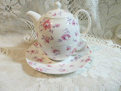 Laura Ashley Tea For One Cup Saucer Teapot Mille Fleur Never Been Used