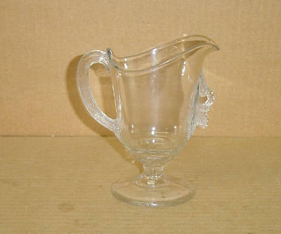 Eapg Crystal Berry Cluster Footed Creamer Circa 1880