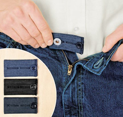 Home-X Easy Fit Buttons for Jeans Add 1/2-2 inches to your waist Pant Extender