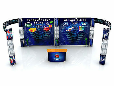 20ft Portable Exhibitition Booth Trade Show Displays Pop Up Stands