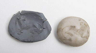 Ancient Agate Stamp Seal with a Lion c.600 BC.