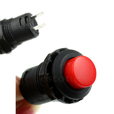 12v Red Locking Latching OFF- ON Push Button Car/Boat Switch MICRO SWITCH 12mm