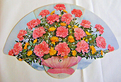 Collectible Advertising Borden's Dairy Products Trifold Fan Floral Splendor