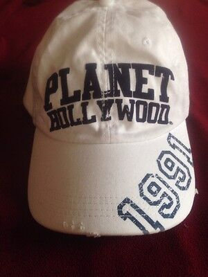 vintage Planet Hollywood  Myrtle beach hat 1991 hat white/w blue letters
