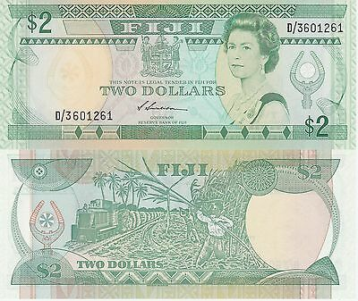 Fiji Islands 2 Dollars Banknote,1988 Uncirculated Condition Cat#87-A-1261