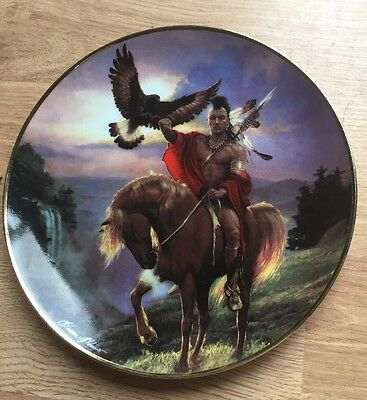 """Collector Plate-Franklin Mint Western Heritage Museum- """"Spirit of the East Wind"""""""