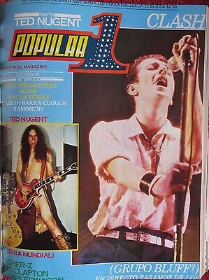 Popular 1 :n.96-The Clash-Ted Nugent-Slade-Bruce Springsteen-Stray Cats-Etc..