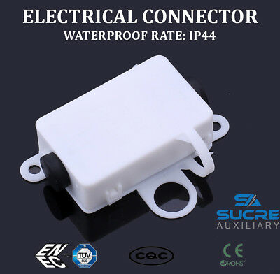 10A 250V AC 3 PINS IP44 Waterproof Electrical Cable Wire Connector Junction Box