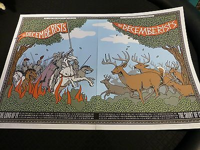 Rare! Decemberists Double Concert Posters 2007 Tour - Limited to 300 each