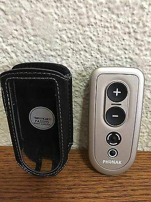 Phonak Pilot 1 Pilot One Hearing Aid Remote Control Leather Case