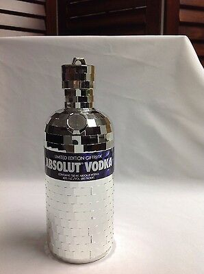 Limited Edition Absolut Vodka disco ball mirrored bottle case